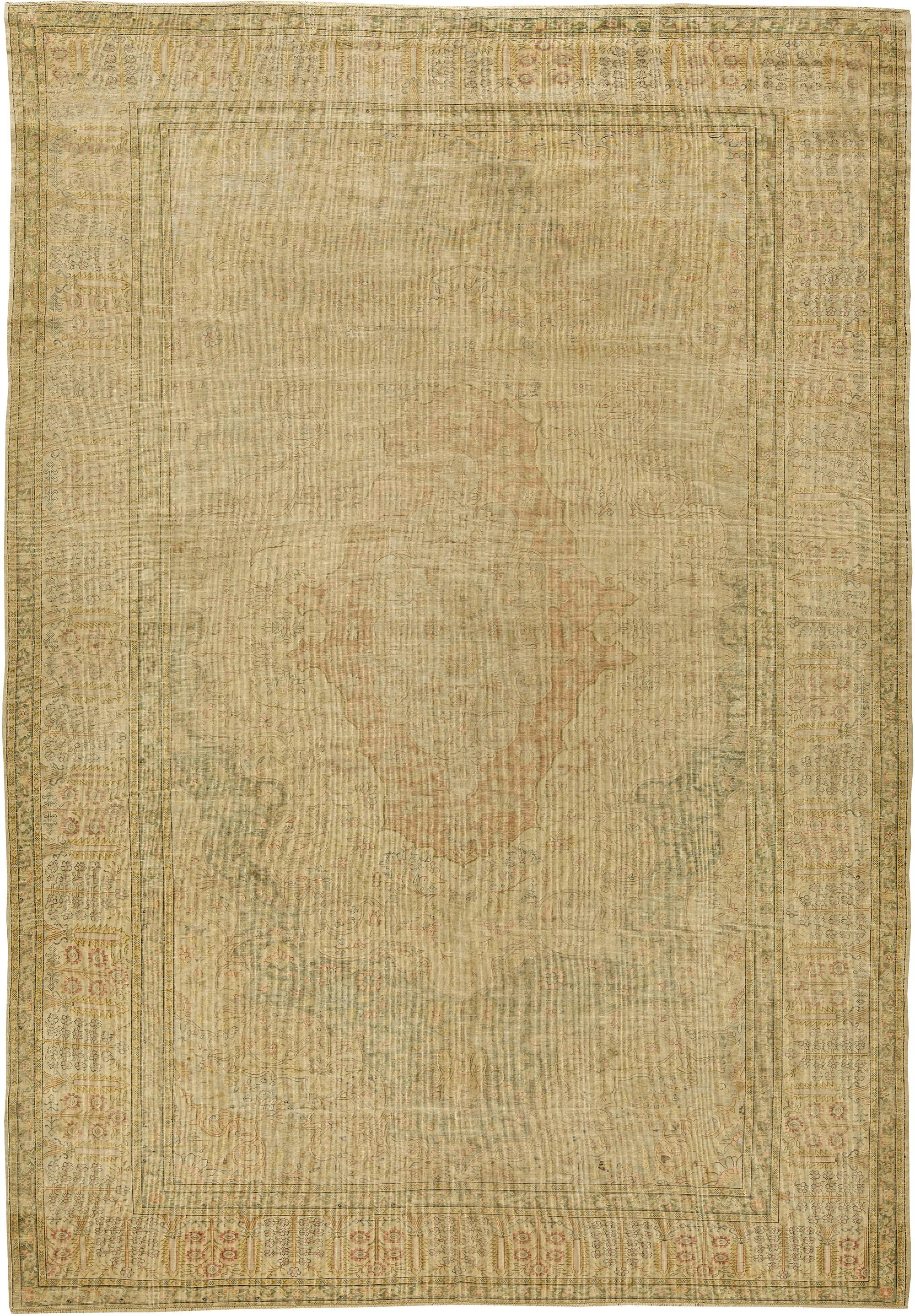 Antique Turkish Silk Rug BB5325