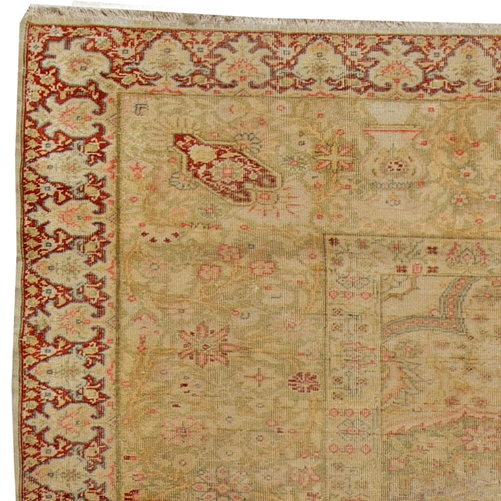 Antique Turkish Silk Rug: Vintage Silk Turkish Carpet BB5616 By Doris Leslie Blau
