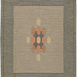 Vintage Swedish Flat-Weave Wool Rug Signed by Ingegerd Silow BB5615
