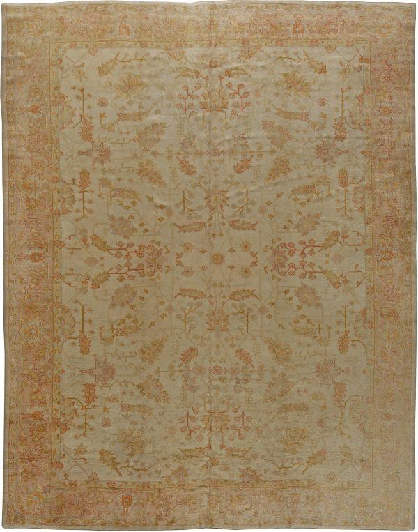 Antique Turkish Oushak Carpet BB5554