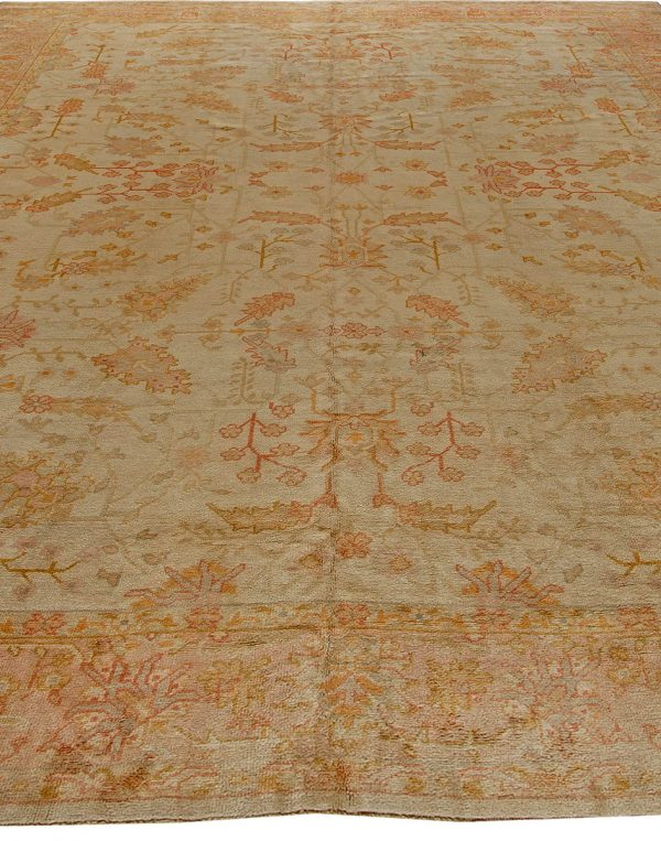 Antique Turkish Oushak Carpet BB5554
