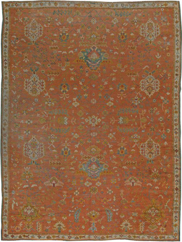 Antique Turkish Oushak Rug (size adjusted) BB5531