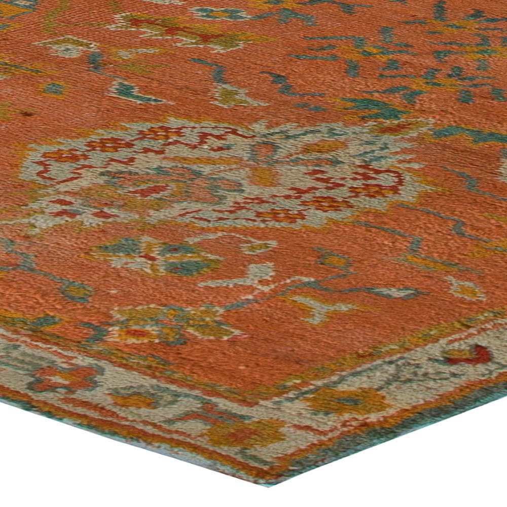 Antique Turkish Oushak Rug (size Adjusted) BB5531 By Doris Leslie Blau