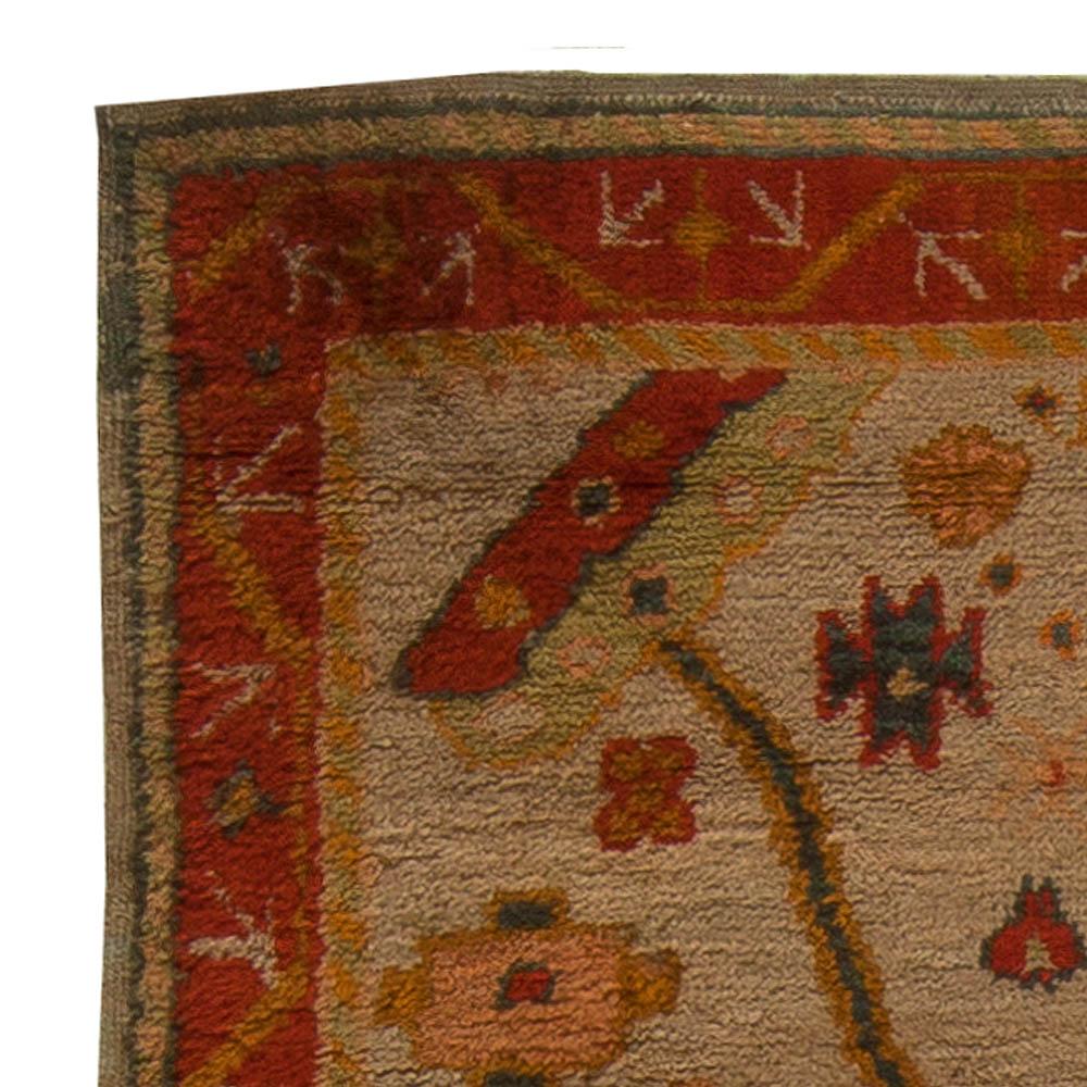 Antique Vintage Turkish Rugs: Vintage Turkish Oushak Rug (size Adjusted) BB5449 By Doris