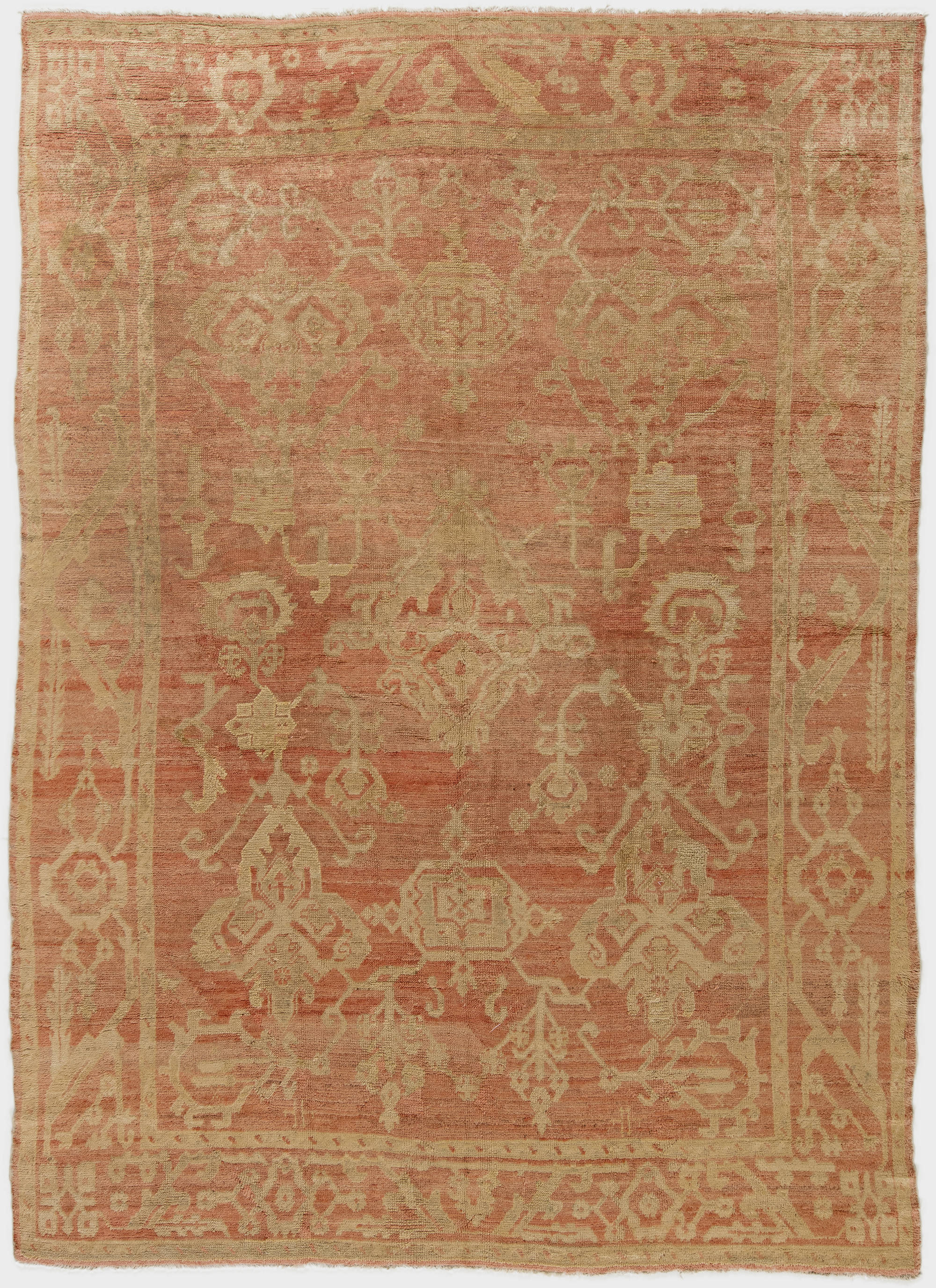 Antique Turkish Oushak Rug Bb6258 By Dlb