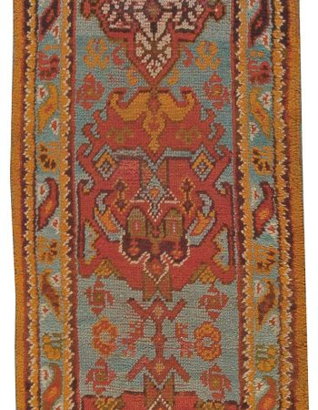 Vintage Turkish Oushak Runner ( size adjusted) BB5424