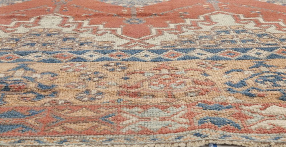 Vintage Hand-woven Moroccan Rug with Tribal Design BB6353