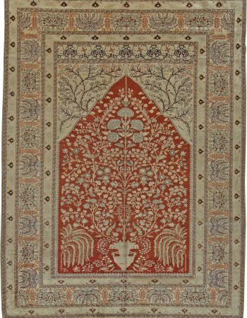 Vintage Turkish Silk Rug BB5477