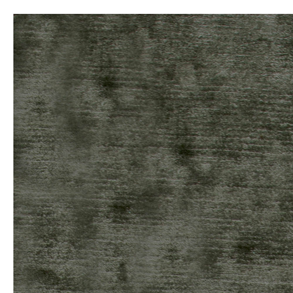Contemporary Hand Knotted Silk Steel Gray Rug N11094