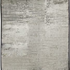 Contemporary Off-White Banana Silk Rug N10983