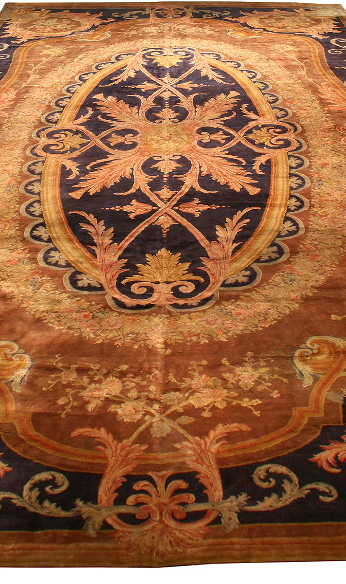 Antique French Savonnerie Carpet Bb1374 By Dlb