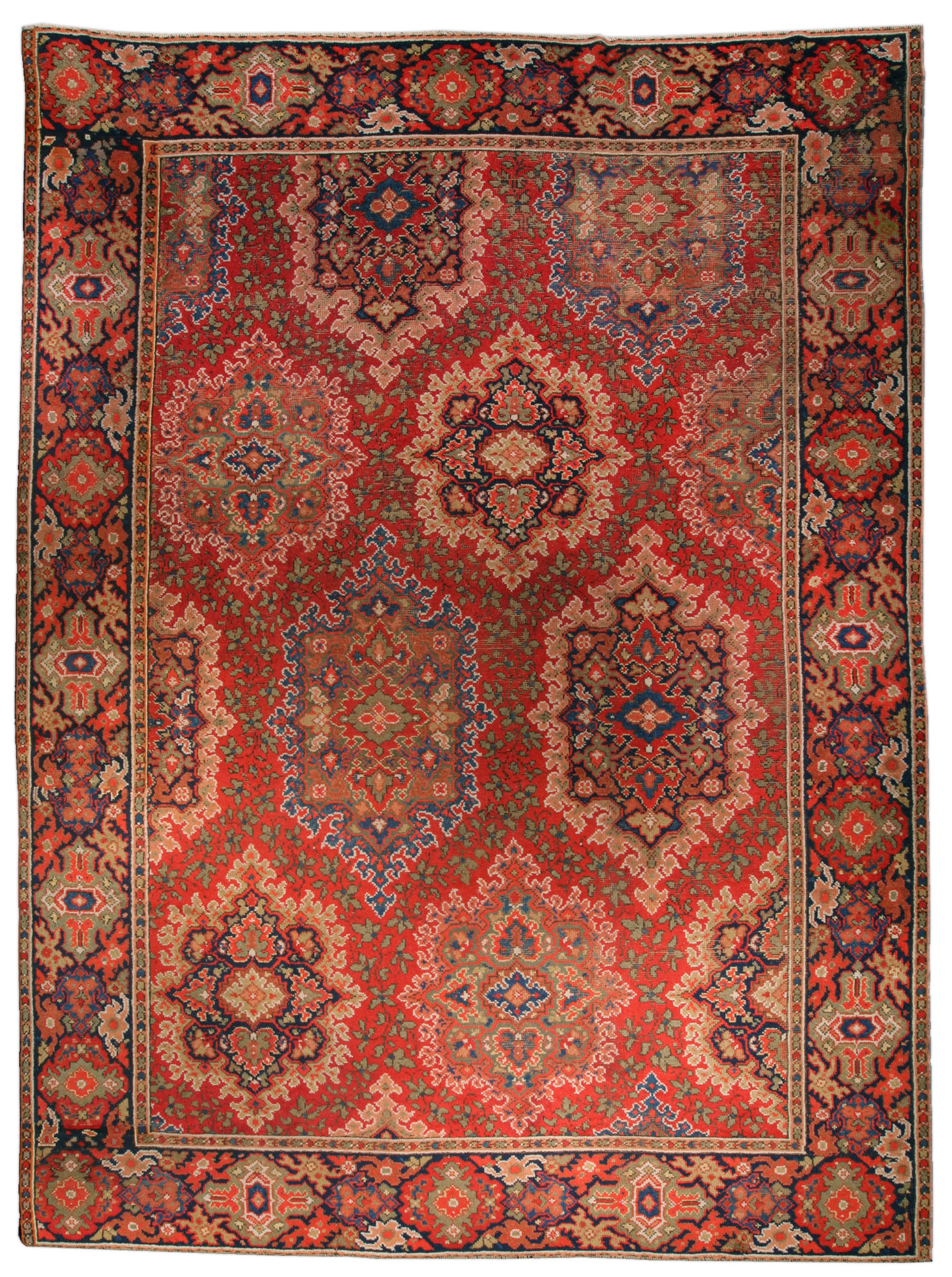 Antique English Axminster Carpet Bb1406 By Dlb