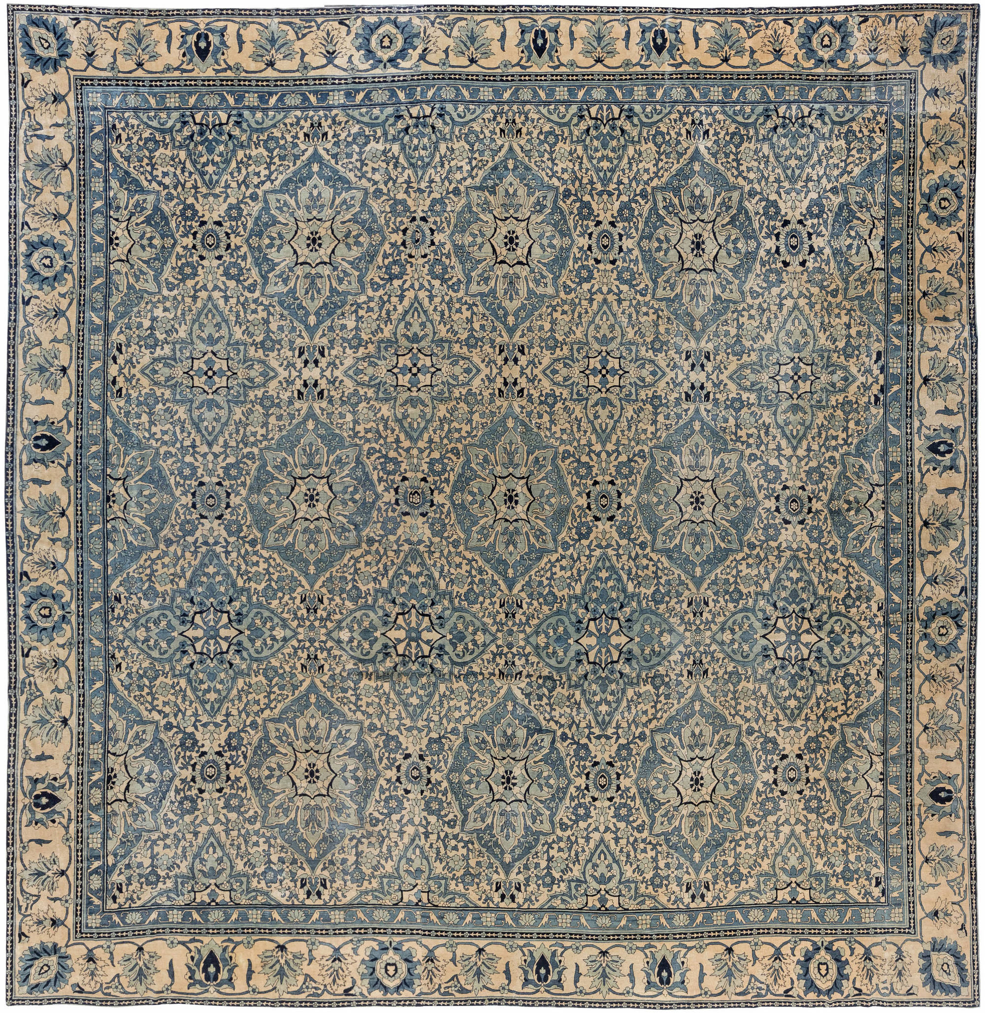 Antique Indian Rugs: Oversized Antique Indian Rug BB5360 By Doris Leslie Blau