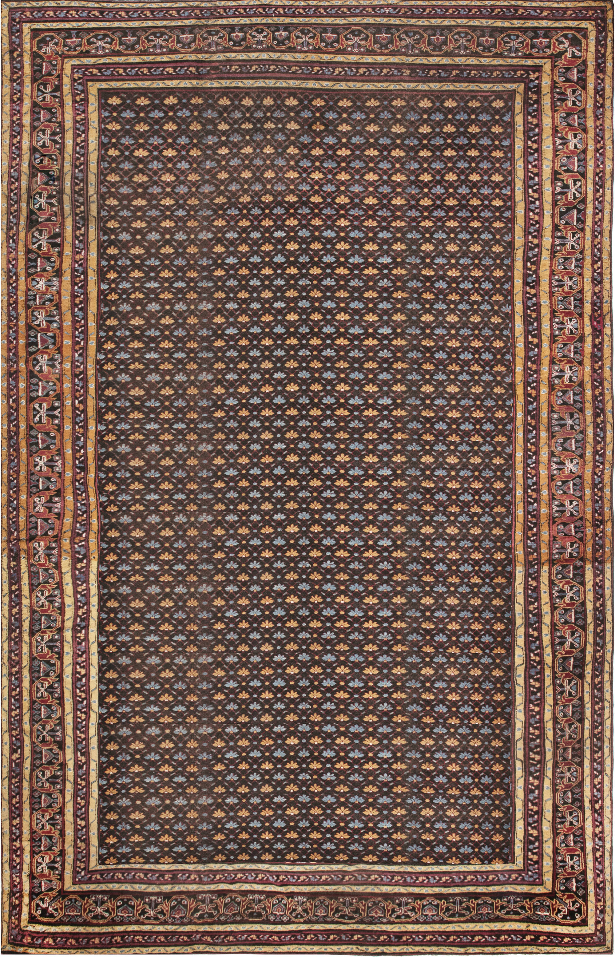 Antique Indian Rug Bb3137 By Dlb