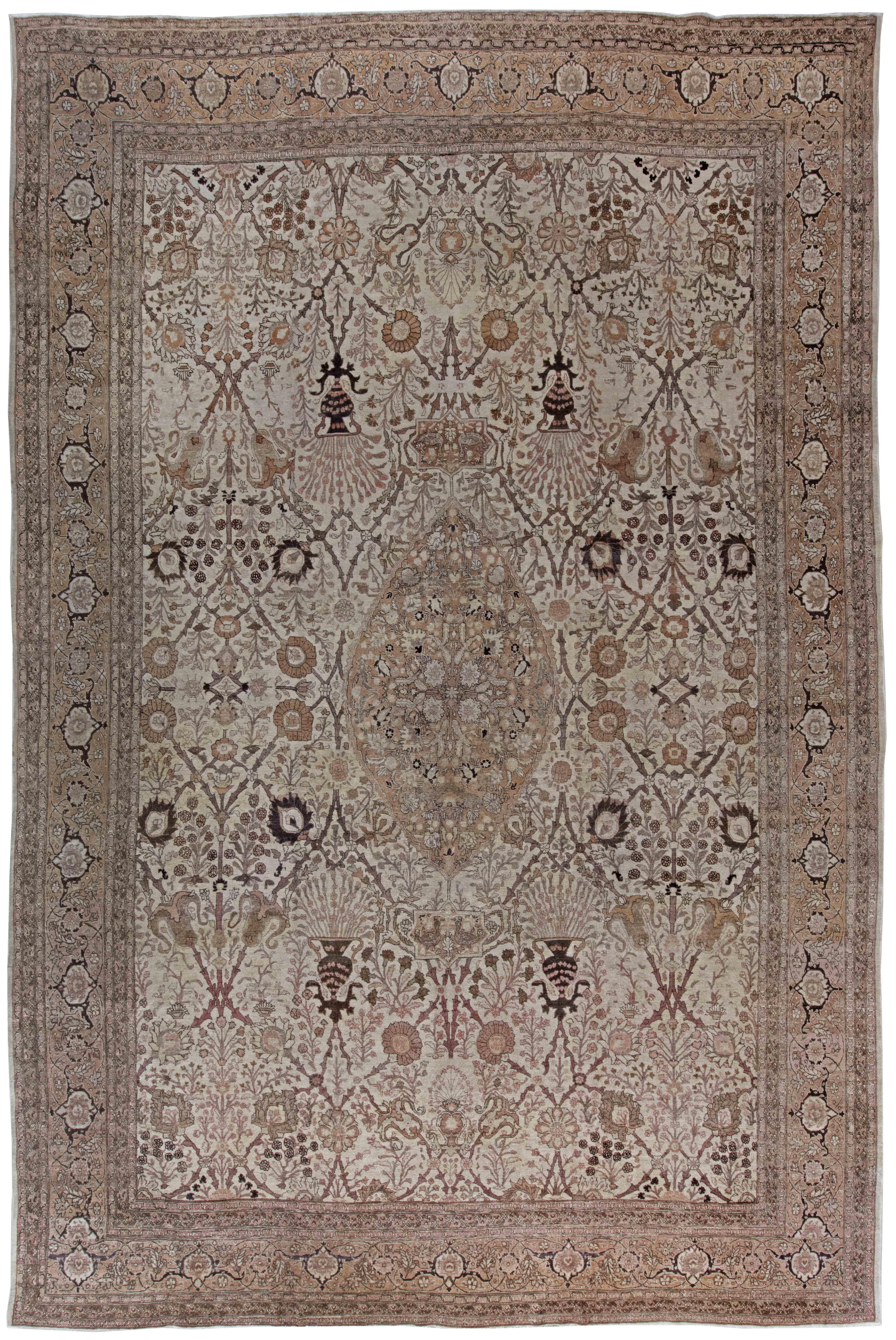 Antique Persian Tabriz Rug BB0507