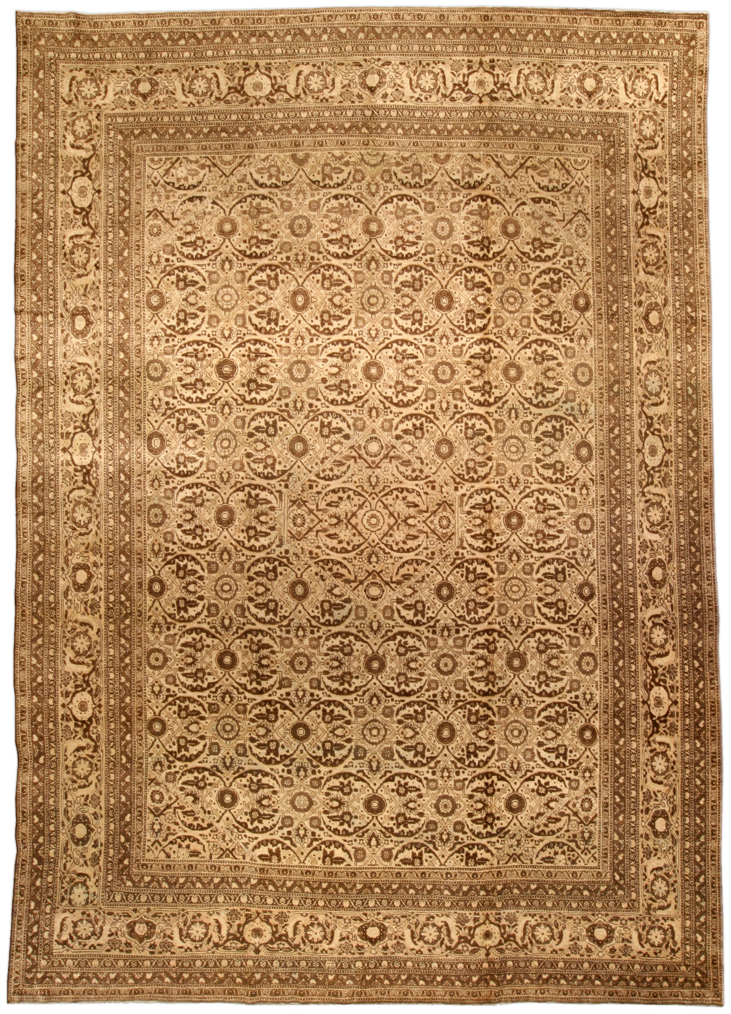 Antique Persian Tabriz Carpet Bb1484 By Doris Leslie Blau