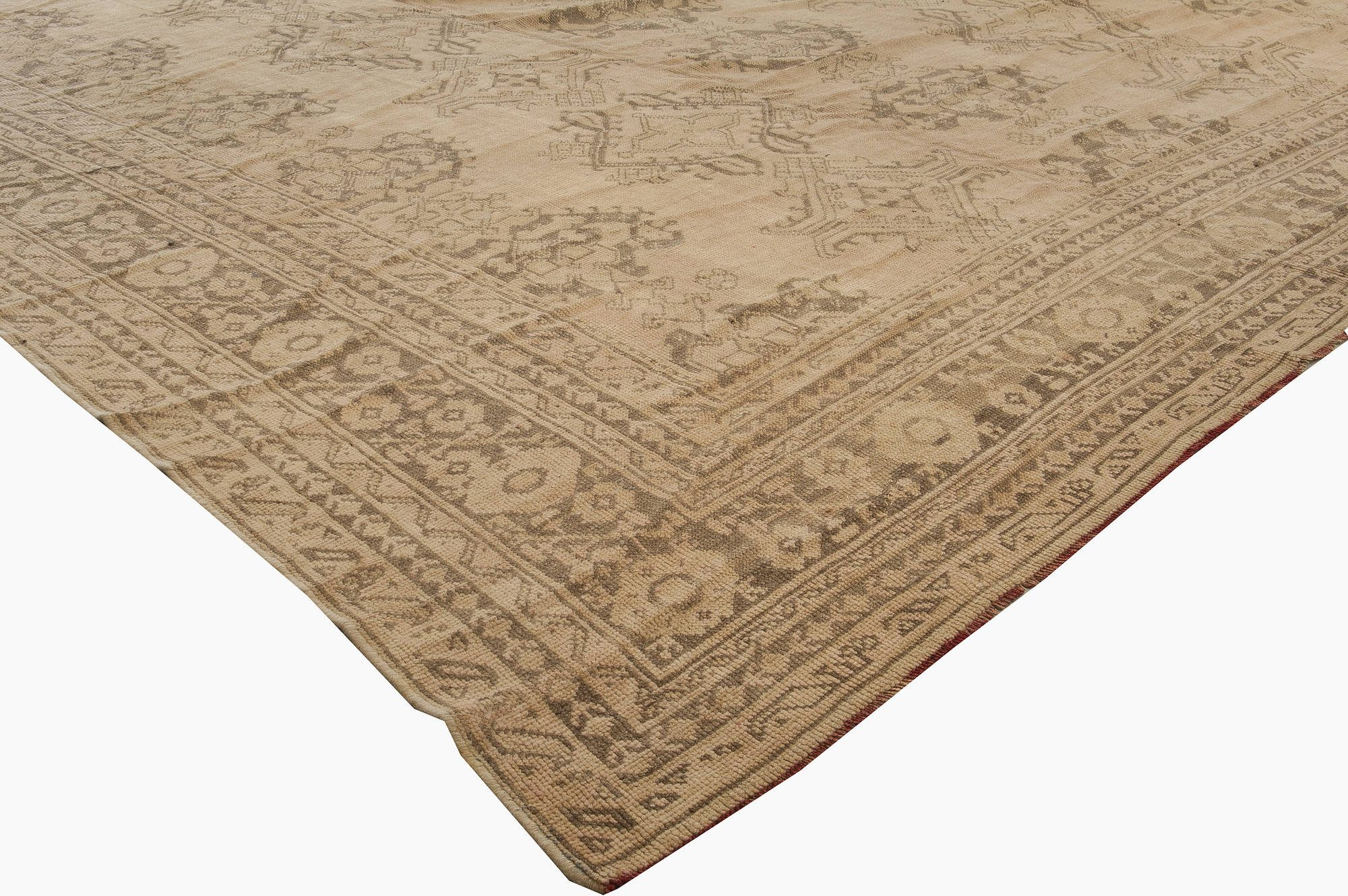 Extra Large Antique Turkish Oushak Rug BB3313