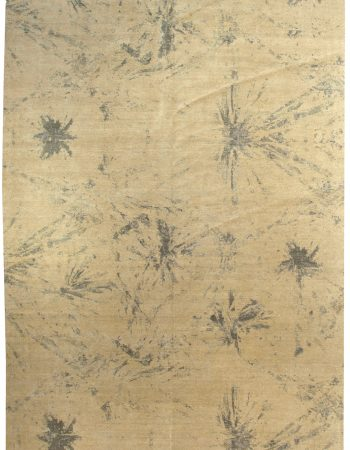 Contemporary Blue Splash Rug N10601