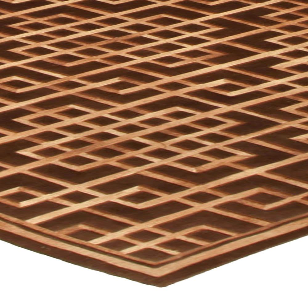 Modern Pavilion Design Geometric Brown Rug N10333
