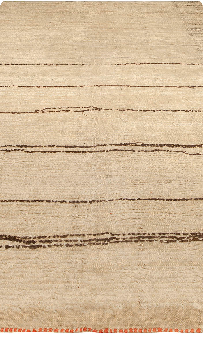 Vintage Tribal Handmade Moroccan Natural Undyed Wool Rug BB5044