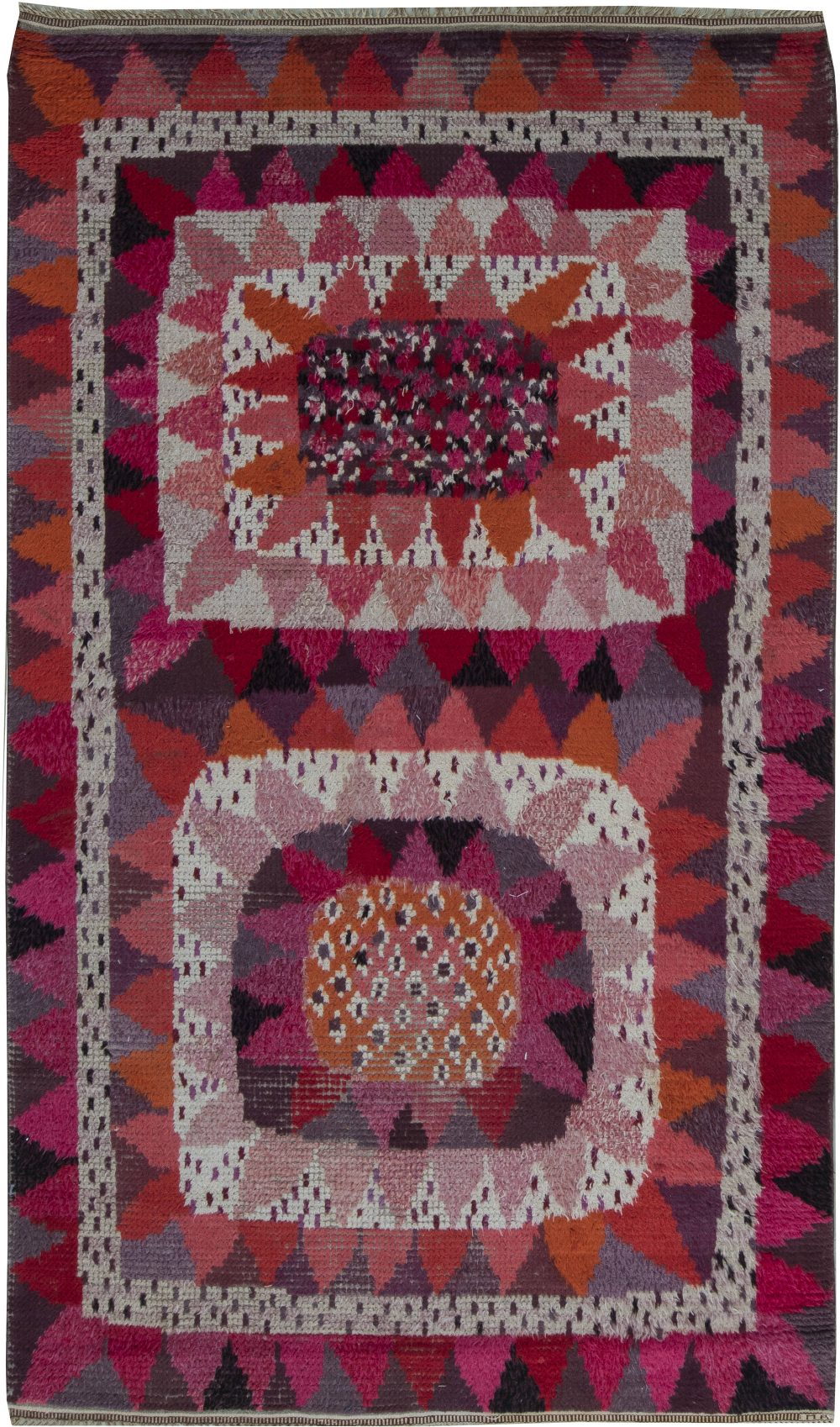 Solrosen Rya Rug by Marianne Richter in MMF Workshop (Size Adjusted) BB6362