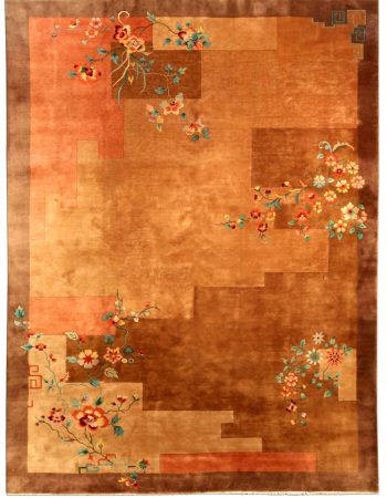 Vintage Chinese Art Deco Carpet BB4123