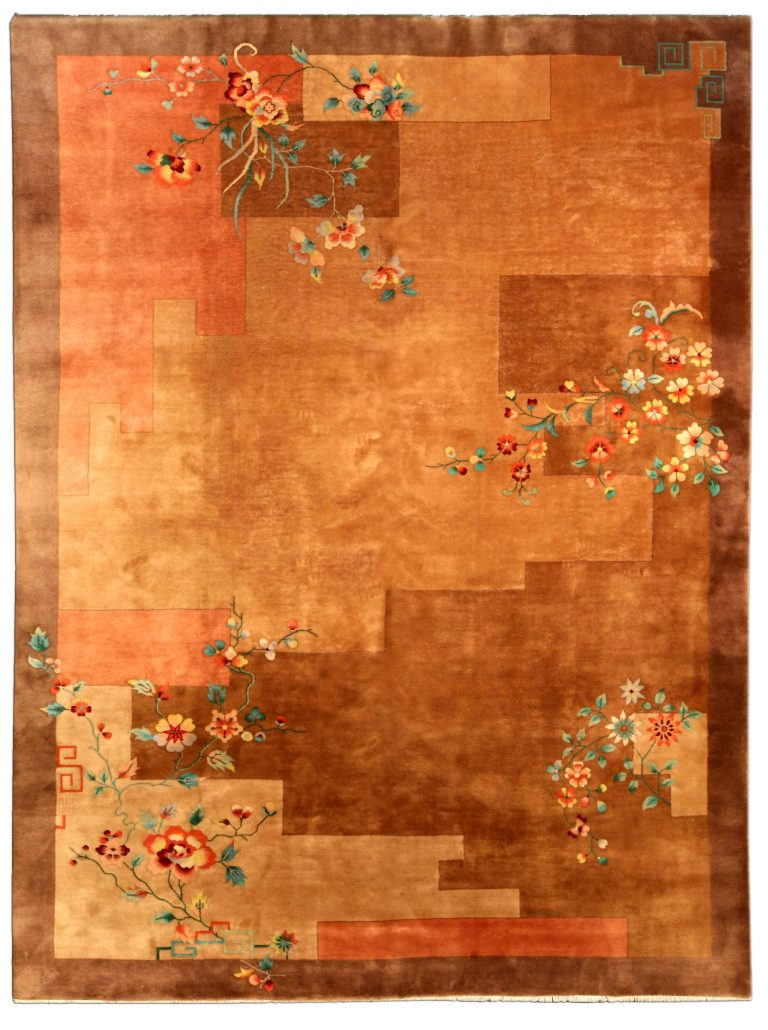 Vintage Chinese Art Deco Carpet Bb4123 By Dlb