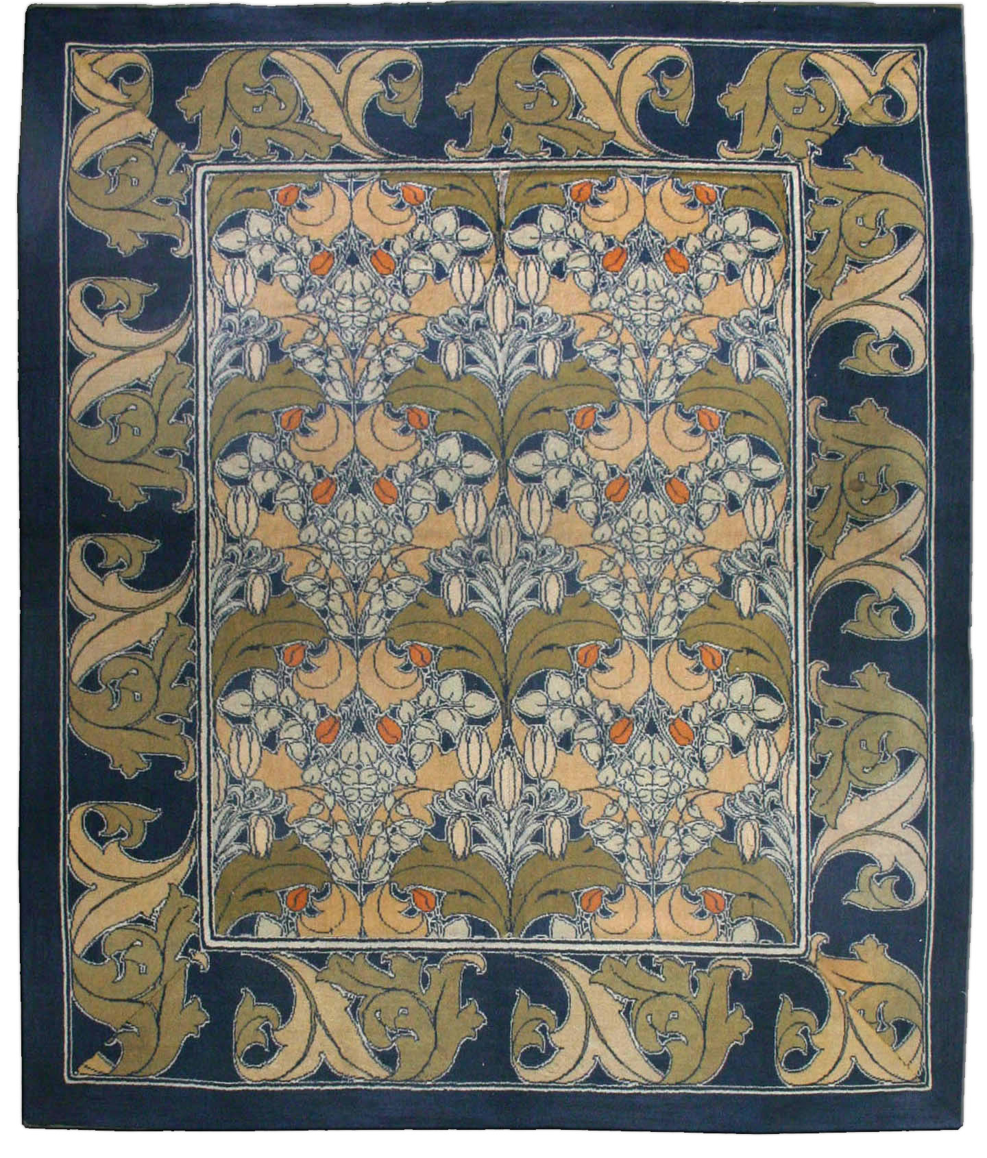 Vintage Arts and Crafts Voysey Rug BB2514
