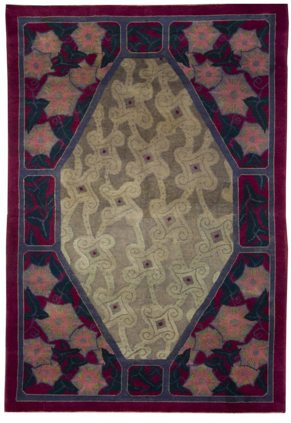 Vintage French Deco Rug BB5080