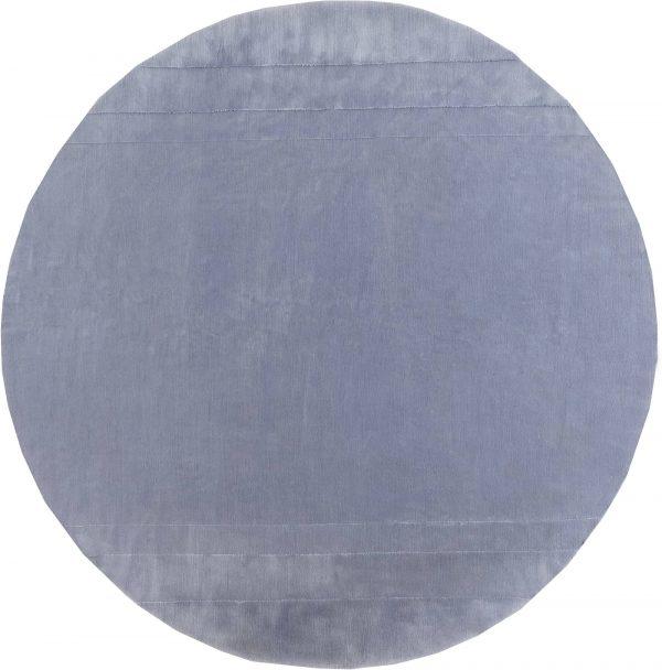Lavender Mohair Round rug N10559
