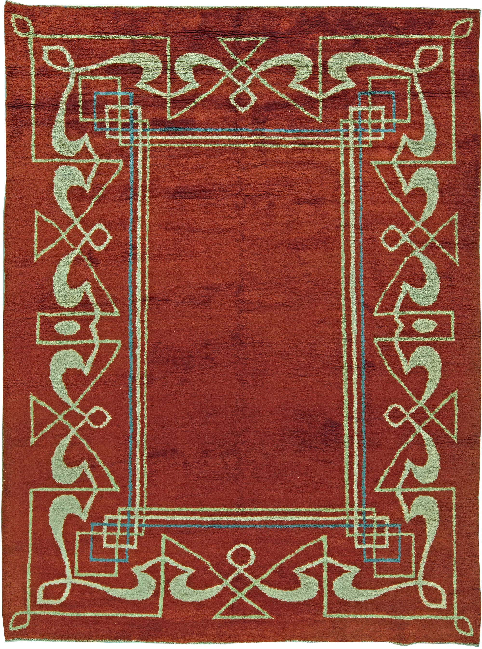 Vintage Art Deco Rug Bb5832 By Dlb