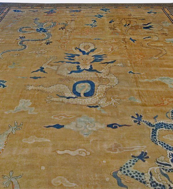 Vintage Chinese Deco Rug BB2353