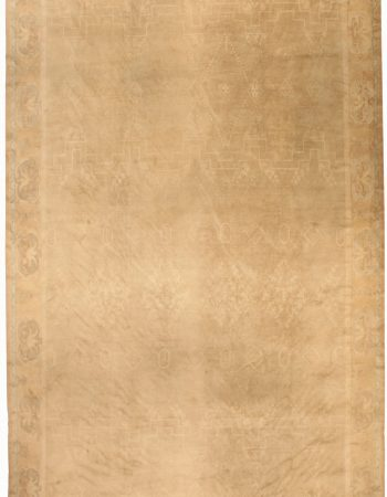 Samarkand Beige, Dusty Pink and Light Orange Hand Knotted Wool Rug BB7046