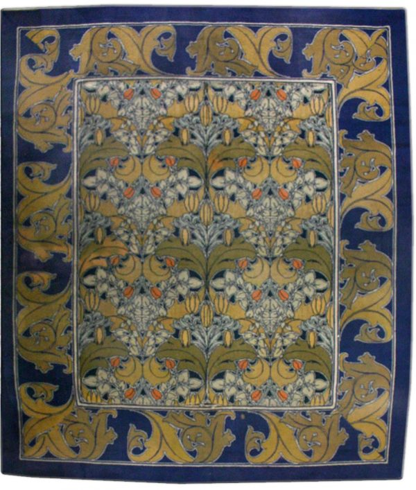Vintage Arts and Crafts Voysey Rug BB2515