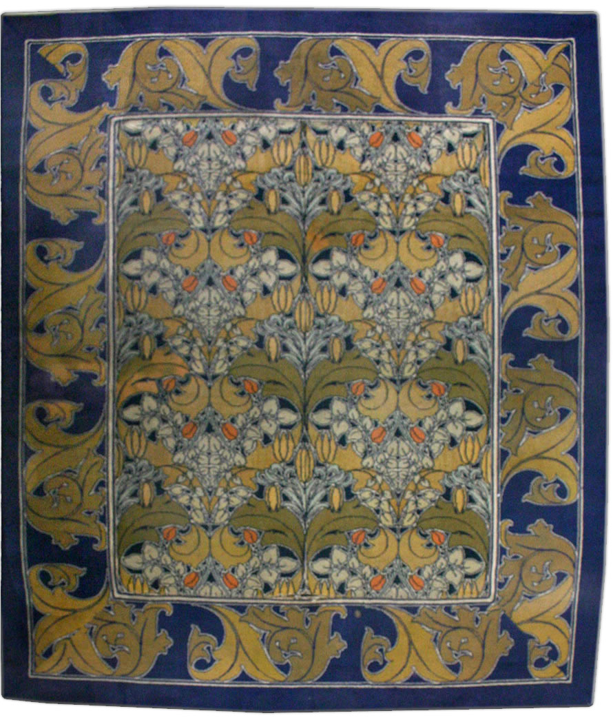 Vintage Arts And Crafts Voysey Rug Bb2515 By Doris Leslie Blau