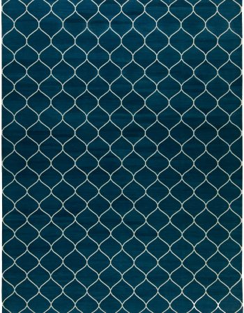 Contemporary Capri Blue Rug N10385