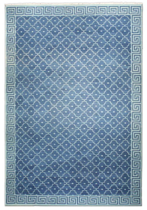 Blue Greek Key Dhurrie 23ab By Doris Leslie Blau