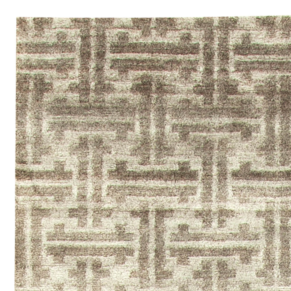 Terra Light Gray Rug in Natural Wool N11300