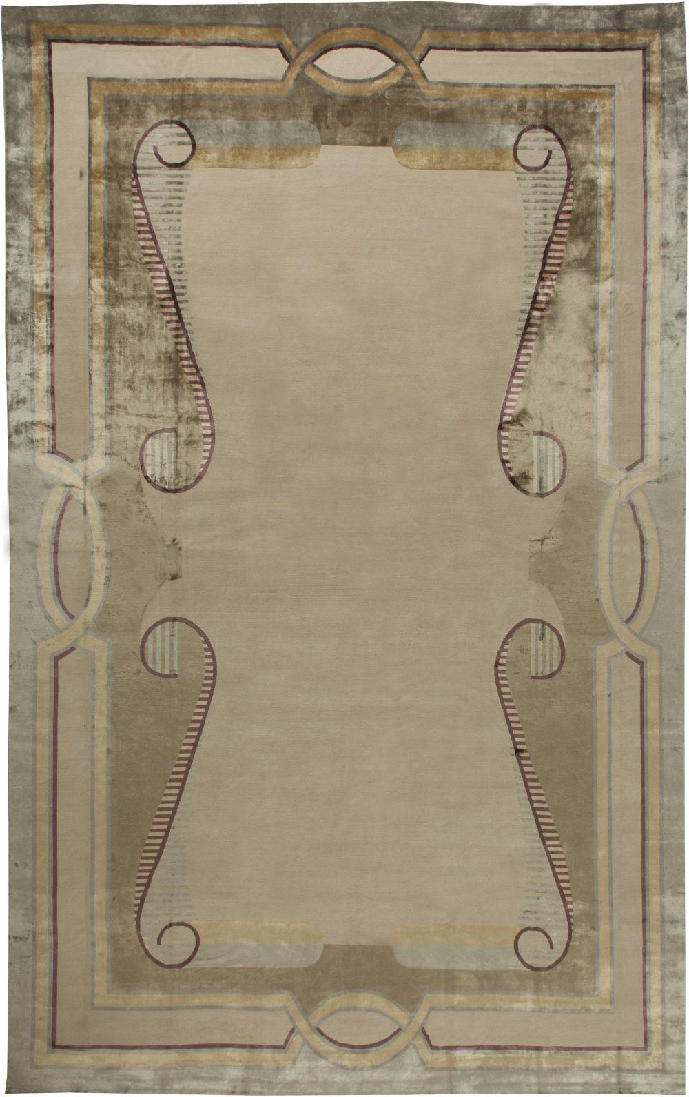 Oversized Deco Designed Tibetan Rug N11277