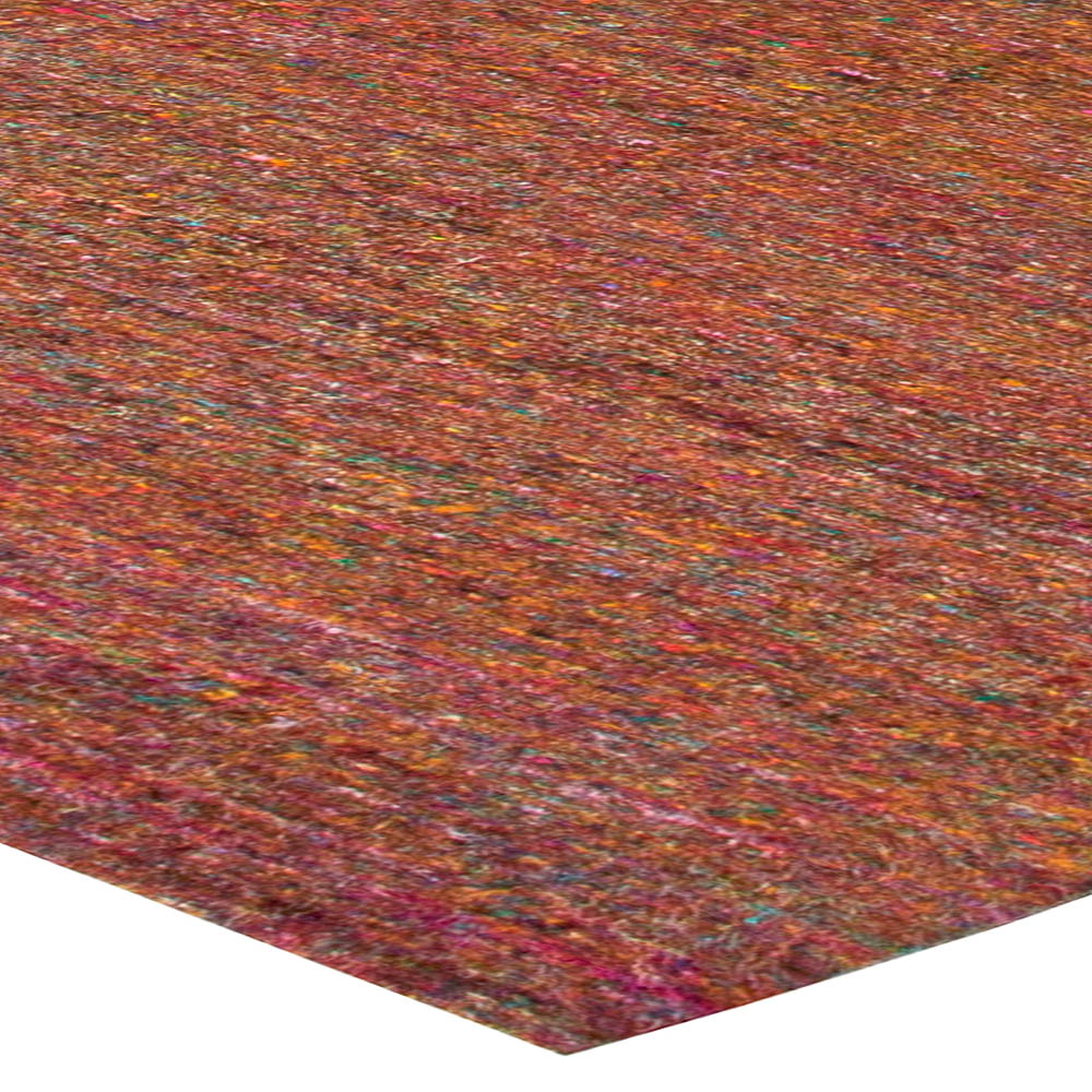 Multi Art Silk Rug in Shades of Red, Green, Blue and Yellow N10762
