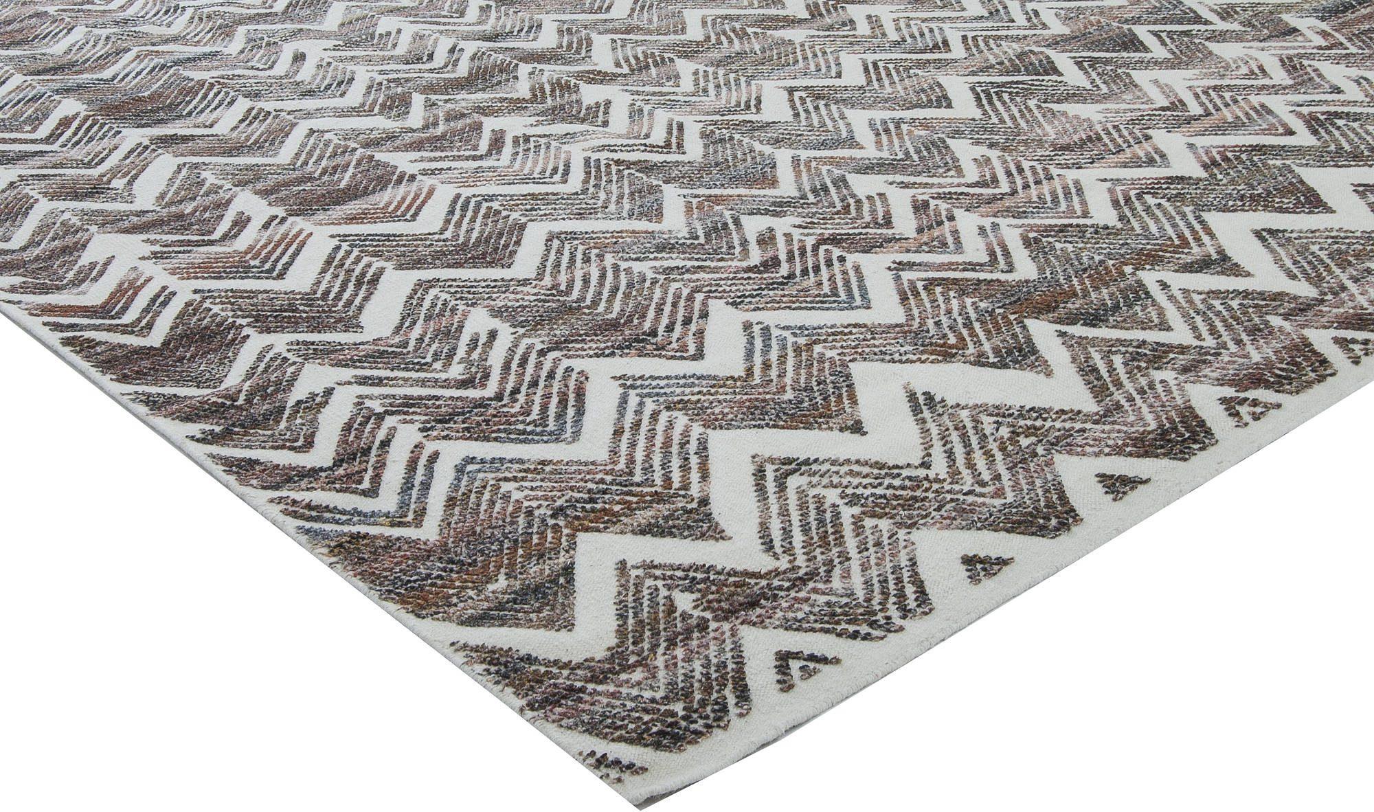 Textured Chevron Rug N11445 By Dlb