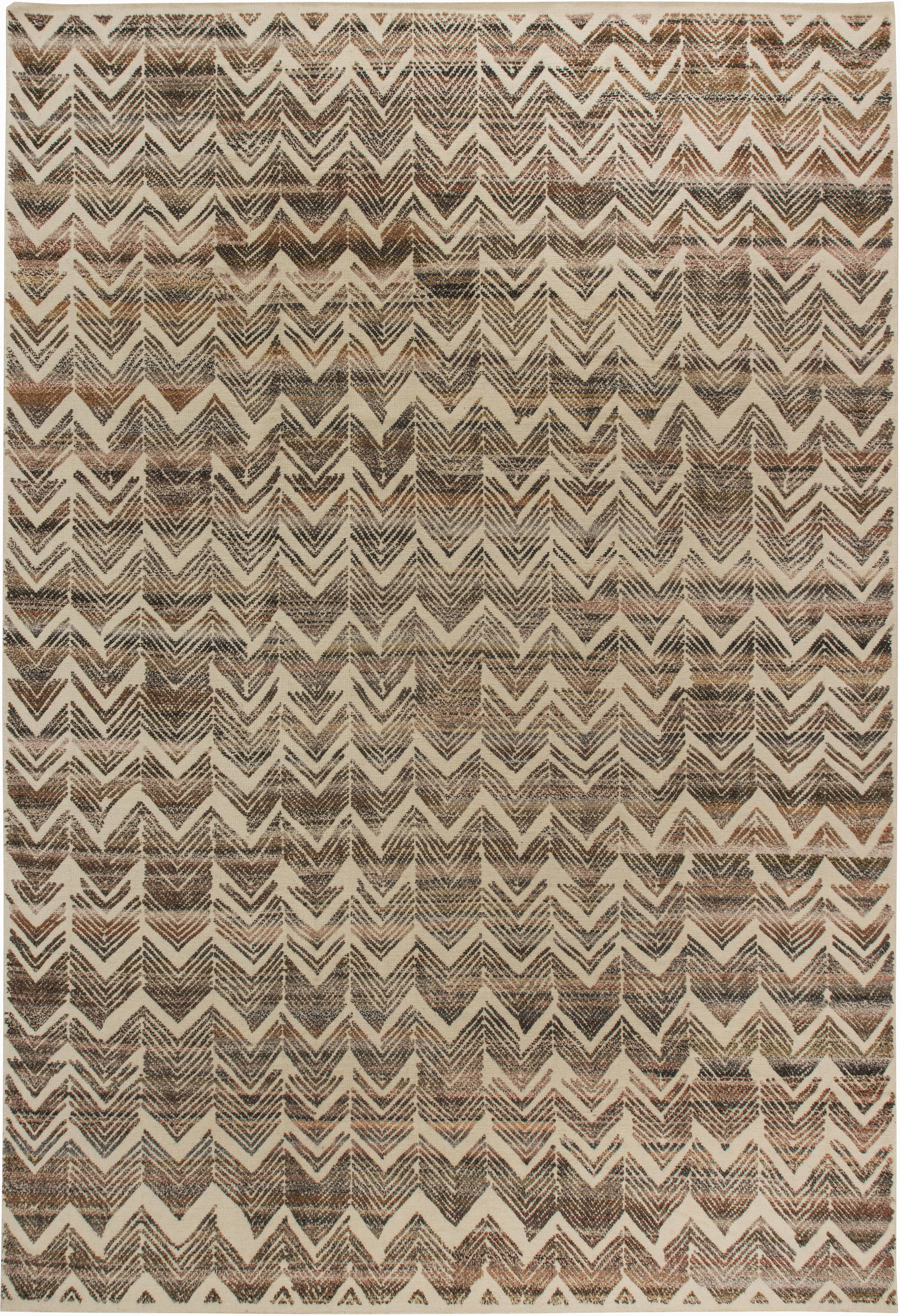 Textured Chevron Rug N11445