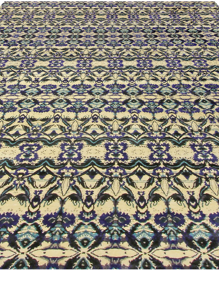 Modern Eskayel-Natale Cerulean Silk Rug N10616