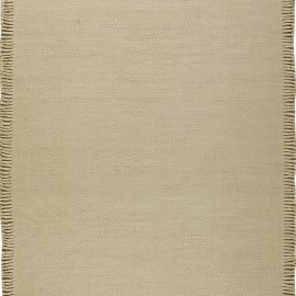 Contemporary Beige Flat-Weave Wool Rug N11151
