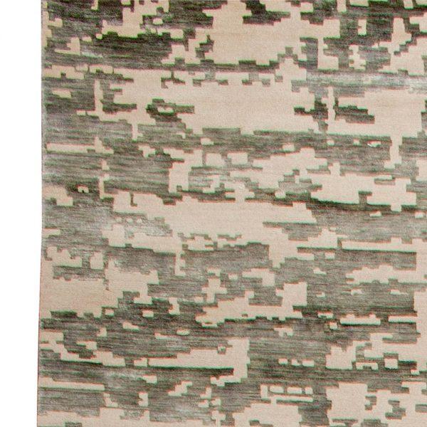 OVERSIZE AQUA ELEMENT RUG IN GREEN N10779