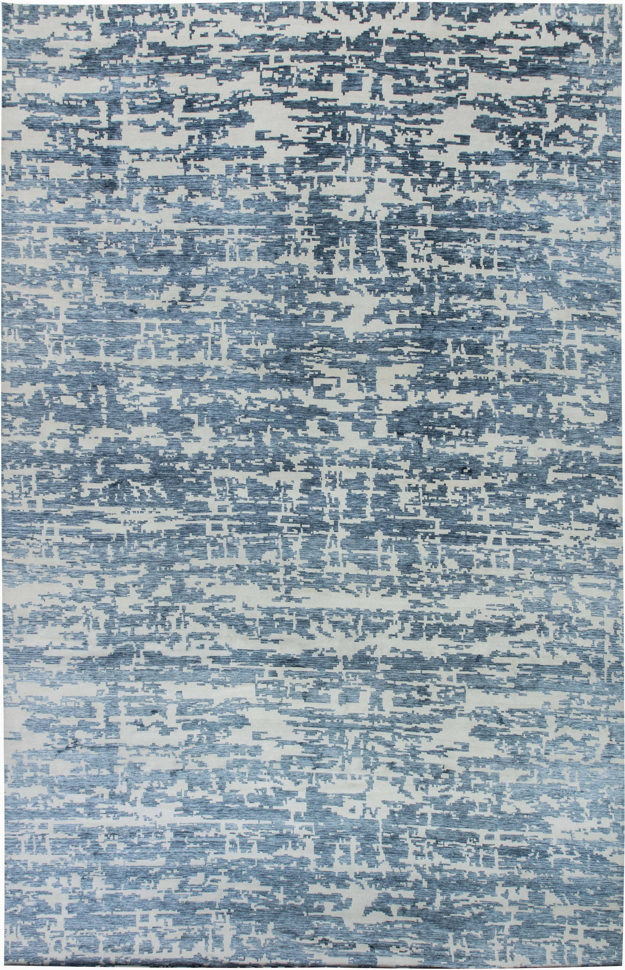 OVERSIZED AQUA ELEMENT RUG IN BLUE N11580
