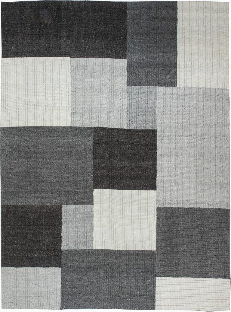 Modern Flat Weave Carpet N11587 By Dlb