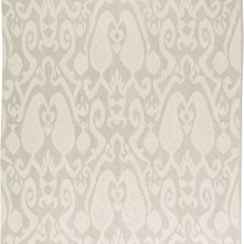 Contemporary Light Gray Hand Knotted Wool Kilim Rug N11398