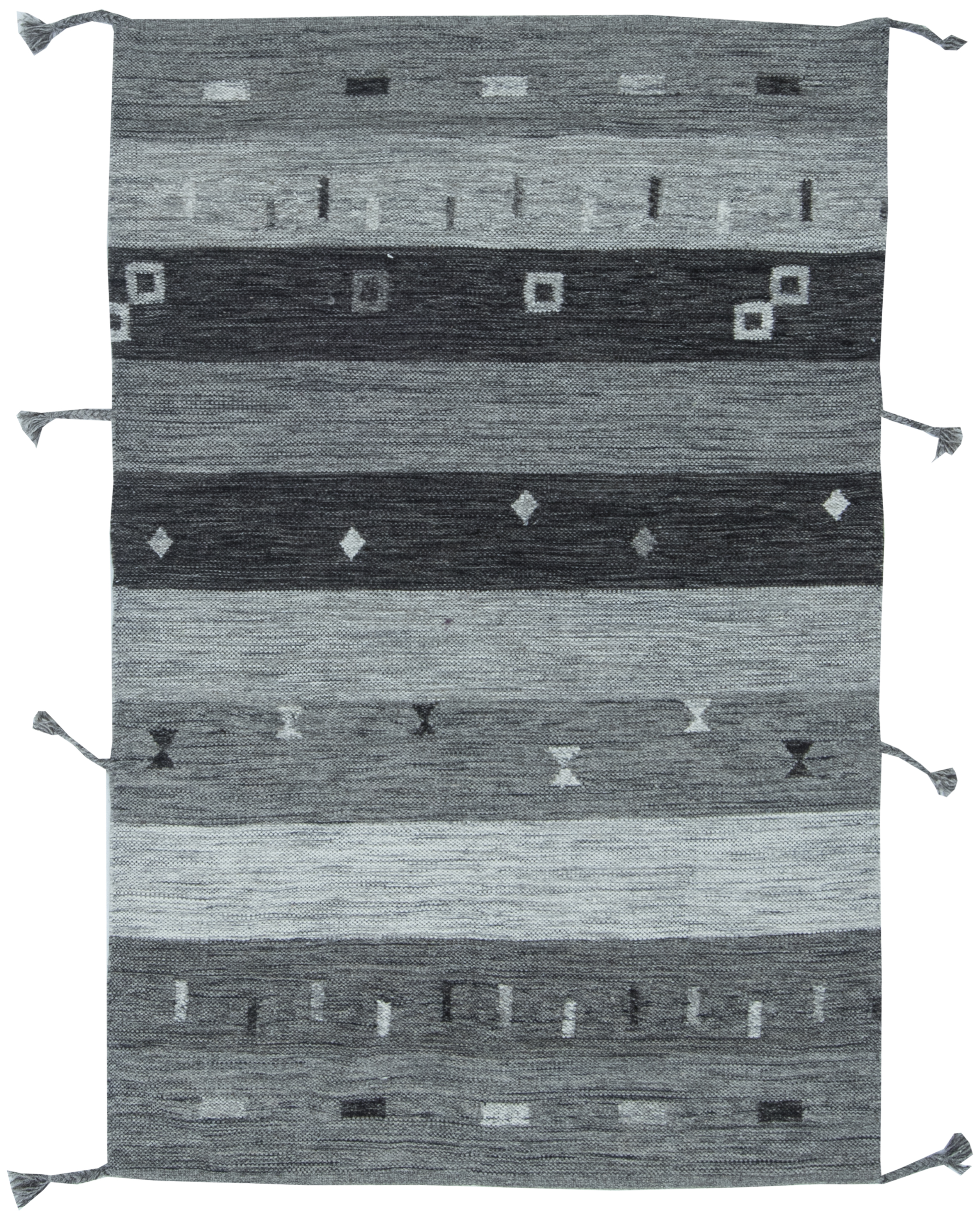 Contemporary Flat weave Rug N11514