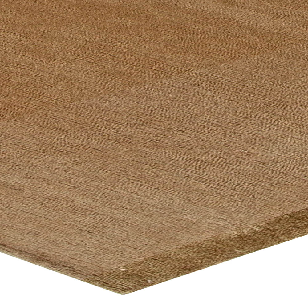 Contemporary Tibetan Ruddy Brown Hand Knotted Wool Rug N10922